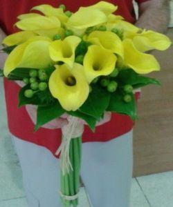 Ramos de novia calas amarillas