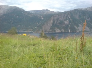 Flørli View from Kåsen the farm n the other side of the fjord Photo Abtffn