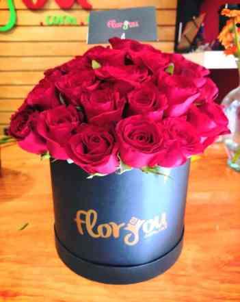 Caja con rosas rojas para Arreglos florales Tijuana - Florerias en Tijuana