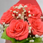Perfume de ti 5 rosas rojas para Arreglos florales Tijuana - Florerias en Tijuana