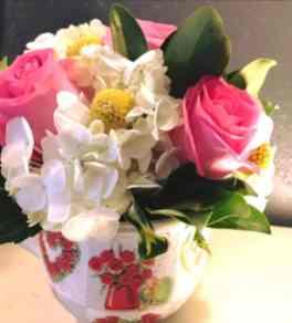 Jarrón de rosas Globos para Arreglos florales Tijuana - Florerias en Tijuana