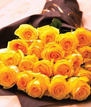 Ramo de veintena de rosas amarillas - Florerias en Tijuana
