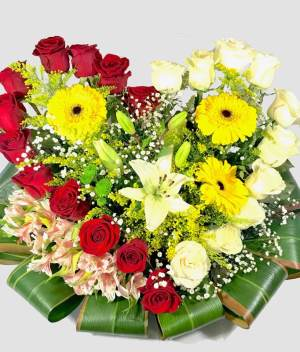 Corazon de flores - Florerías en Tijuana, Arreglos Florales Tijuana