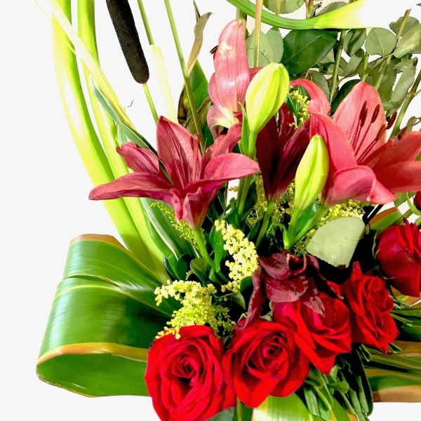 Espacio rojo. Arreglo floral Tijuana - Florerías en Tijuana