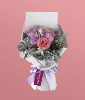 Ramo de rosas pastel, Envía flores a domicilio en Tijuana, florerías en Tijuana