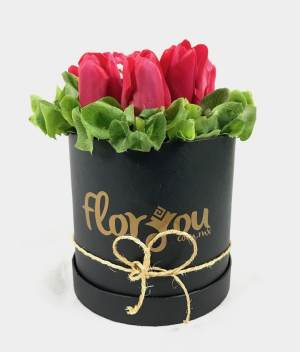 Caja de Tulipanes, Arreglo de flores, Envía flores a domicilio en Tijuana