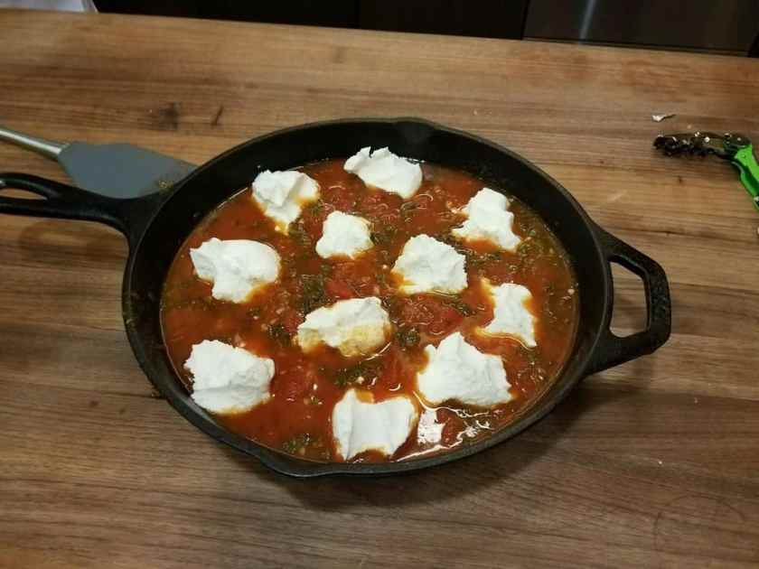 Goat Cheese in Tomato Sauce