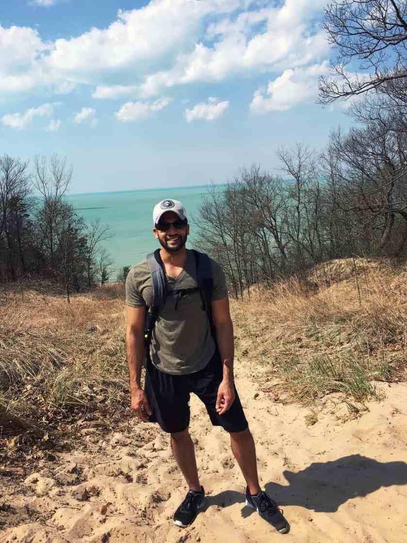 Chicago visitor seeing the dunes for the first time at the urging of his Indiana co-workers.