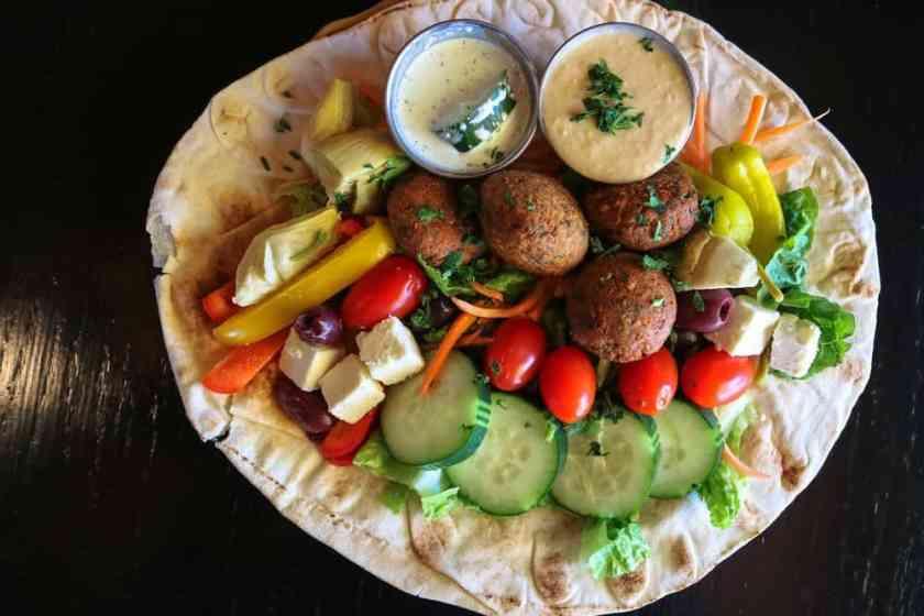 Vegetarian Falafel Hummus Plate