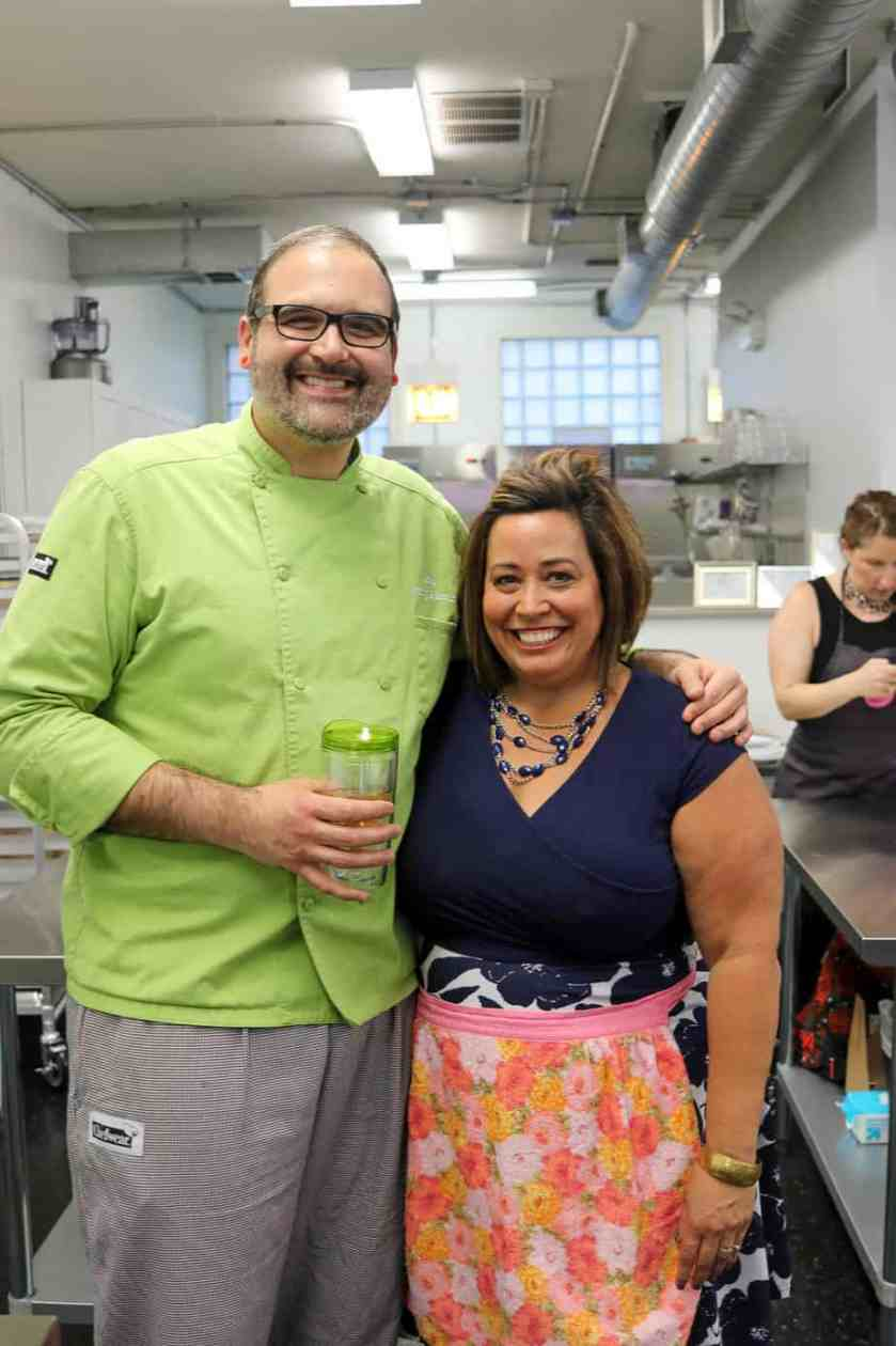 Chefs Jerry Korab and April Lee