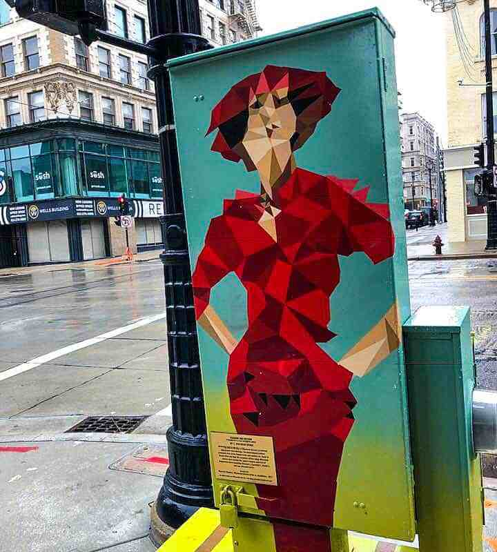 Utility Box Murals tell the history of Milwaukee