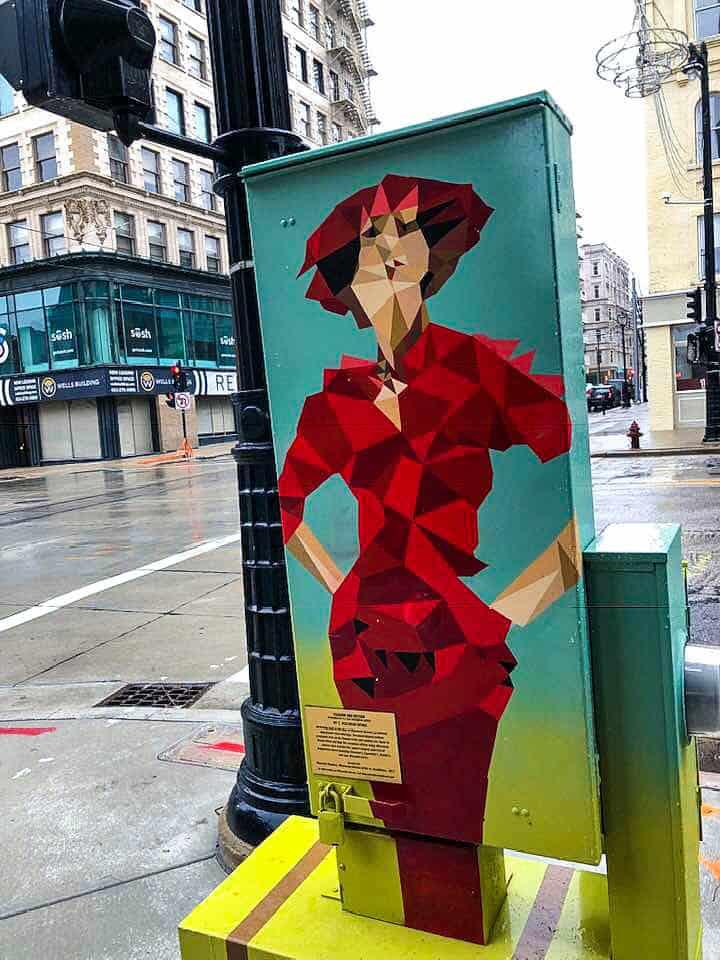 Utility Box Murals tell the history of Milwaukee