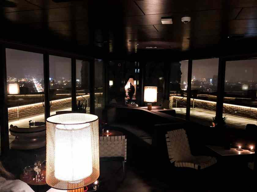 The Up Room Cocktail Lounge on the 13th floor of the Robey hotel