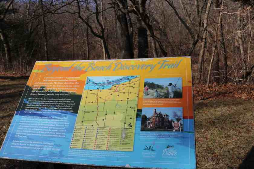 Colorful map of Indiana Dunes National park hiking trails