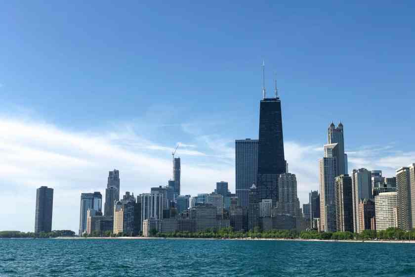 Lake Michigan with Chicago Skyline as backdrop