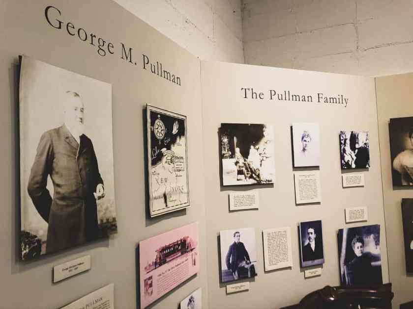 Black and white photos of George Pullman founder of Pullman, Illinois