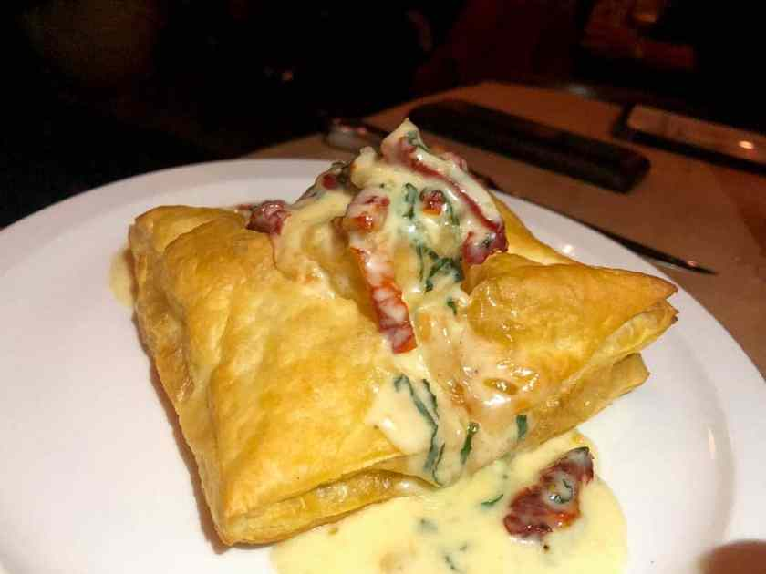 puff pastry stuffed with shrimp