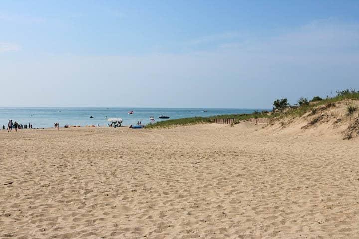 Sandy beach at Lake Michigan