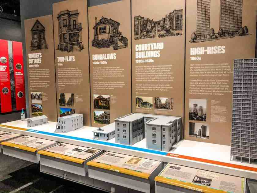 Miniature building exhibit on display at Chicago Architecture Center Tour