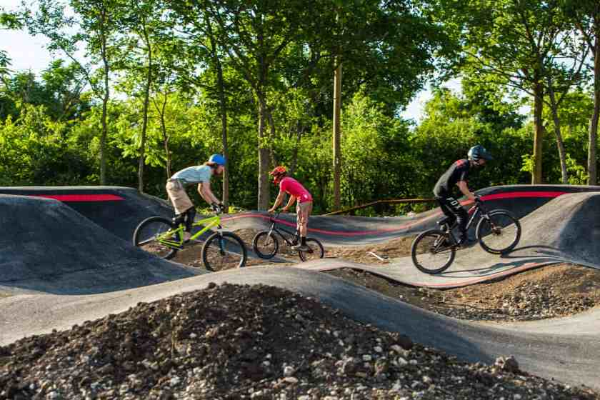Males on BMX bikes at The Forge