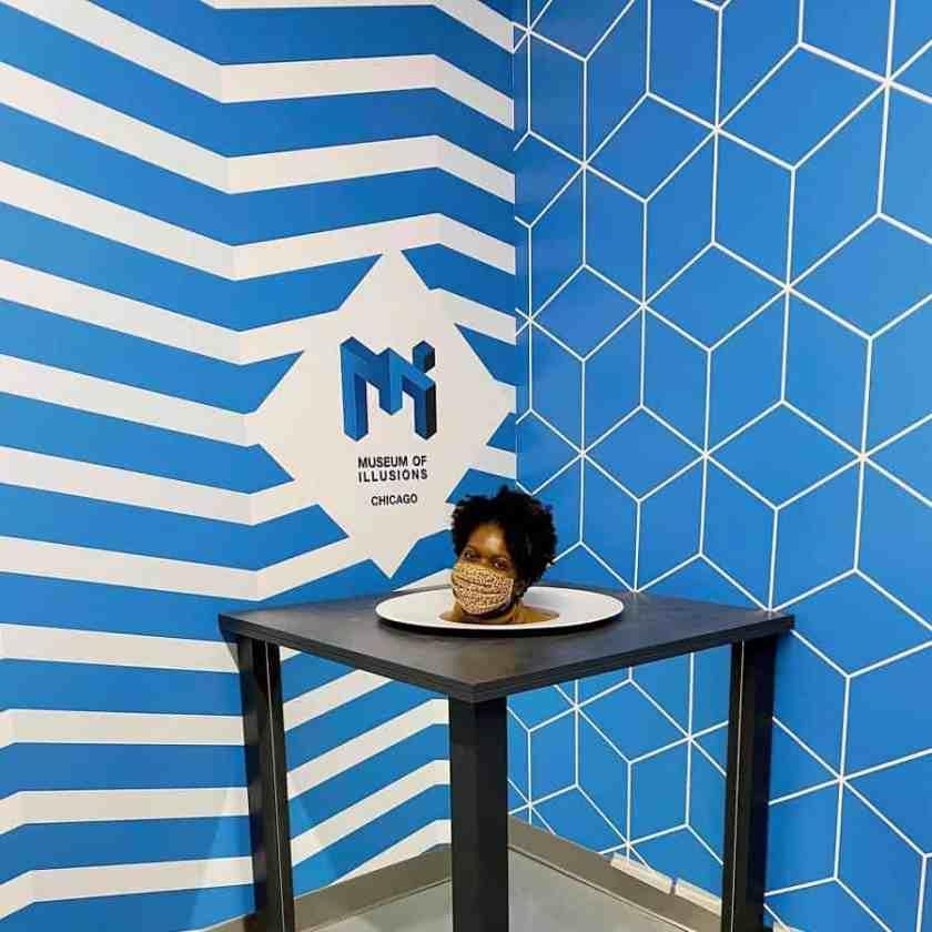 Exhibit at Museum of Illusions in Chicago