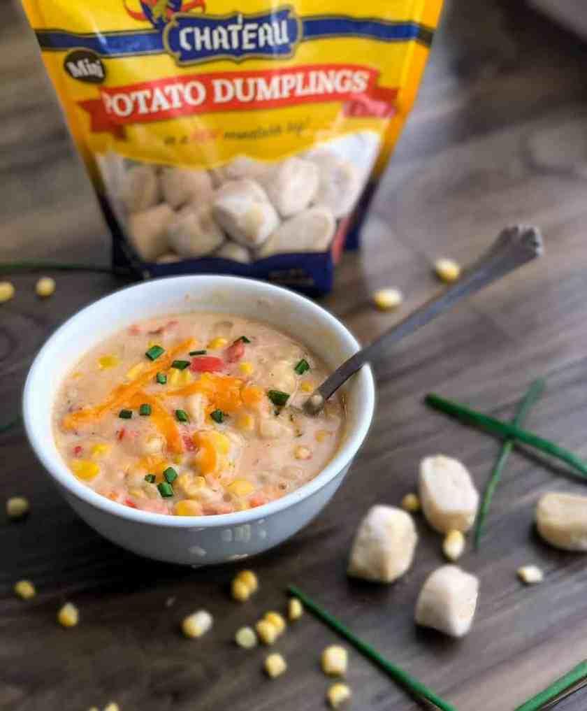 stylized picture of a bowl of potato chowder