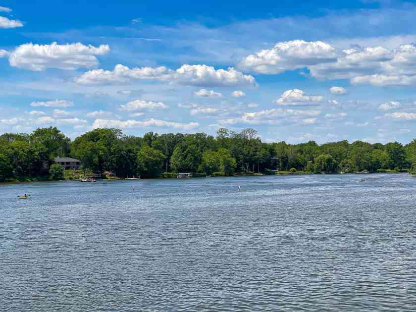 Fox River in St. Charles, ILlinois