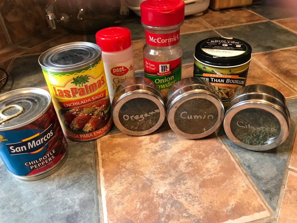 Ingredients for Spicy Slow Cooker Pulled Chicken