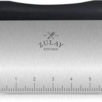 Amazon.com: Premium Multi-purpose Stainless Steel Bench Scraper & Chopper, Easy to Read Etched Markings for Perfect Cuts, Quick & Easy Multi-use Dough Scraper, Dough Cutter & Pastry Scraper - by Zulay Kitchen: Kitchen & Dining