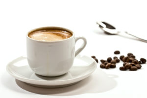 drink series: cup of coffee with coffee grain