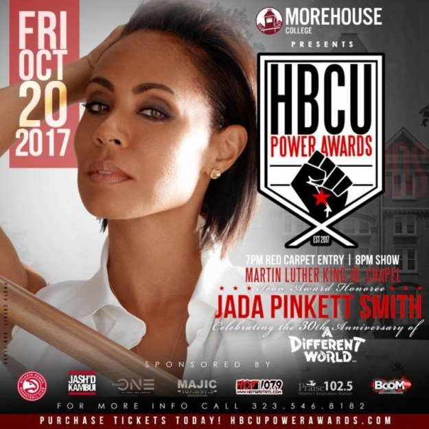 Jada Pinkett Smith To Be Honored at HBCU Power Awards October 20