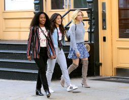 """Someone Great"" Set Pics Gina Rodriguez, Rosario Dawson, Dewanda Wise & Brittany Snow – View Here!"