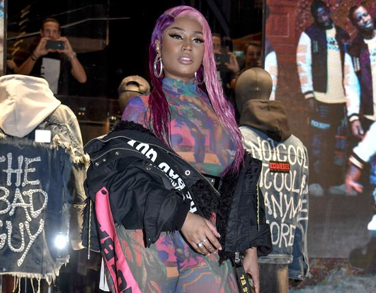 """Nicki Minaj at Her Diesel """"The Bad Guy"""" Collection Launch – Pics Here!"""