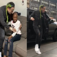 Tekashi 6ix9ine Pays Surprise Visit to 8-Year-Old Fan with Brain Cancer - Details & Video Here!
