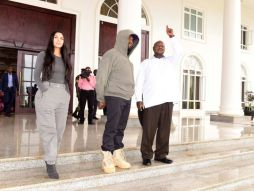 Kanye West in Uganda Meets with President + Works on New Album