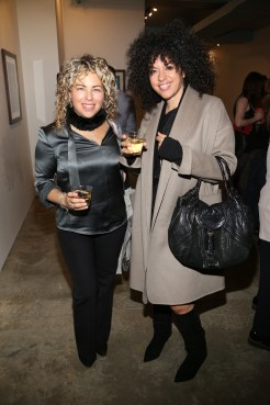 NEW YORK, NY - JANUARY 24: Roberta Marroquin and Veronica Leone attend Cocktails To Benefit Global Strays And A Private Showing Of Modern Images Of The Natural World at Novo Locale on January 24, 2019 in New York. (Photo by Sylvain Gaboury/PMC) *** Local Caption *** Roberta Marroquin;Veronica Leone