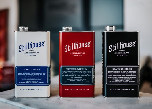 Stillhouse Classic Vodka, Stillhouse Original Whiskey, Stillhouse Black Bourbon - Photo Credit - Jessica Padover