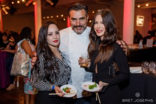 -Chef Todd English and guests