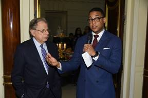 Dr. Samuel Waxman with Don Lemon during presentation
