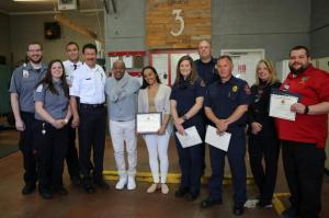 PICS: R&B Legend Peabo Bryson and Wife Visit First Responders Who Saved His Life