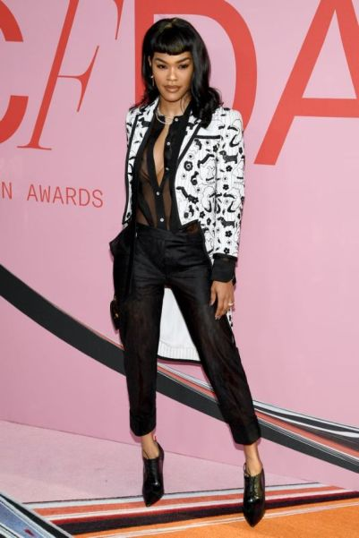 Teyana Taylor Stuns Dressed in ThomBrowne at the2019 CFDA Awards-1