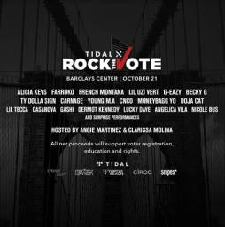 Lil Uzi Vert, Young M.A, CASANOVA & Lil Tecca added to TIDAL X Rock The Vote Lineup