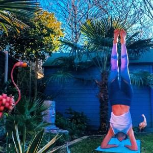 garden yoga