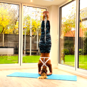winter yoga for health - headstand