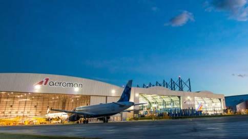 Instalaciones de AEROMAN, la empresa de mantenimiento de aviones, no ha parado de crecer, debido al plan de inversiones en infraestructura y capacitación de recurso humano. Invertirán 60 millones de dólares en la construcción de dos hangares.