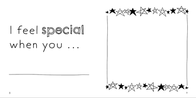 Example page - You make me feel special when you...