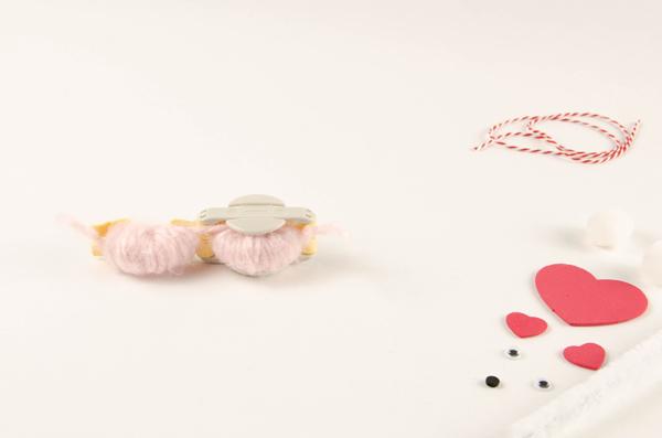 Step 1 to make Pompom Pet Valentines