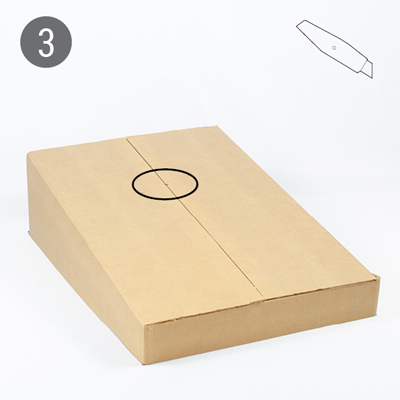 Cardboard cornhole tutorial step 3