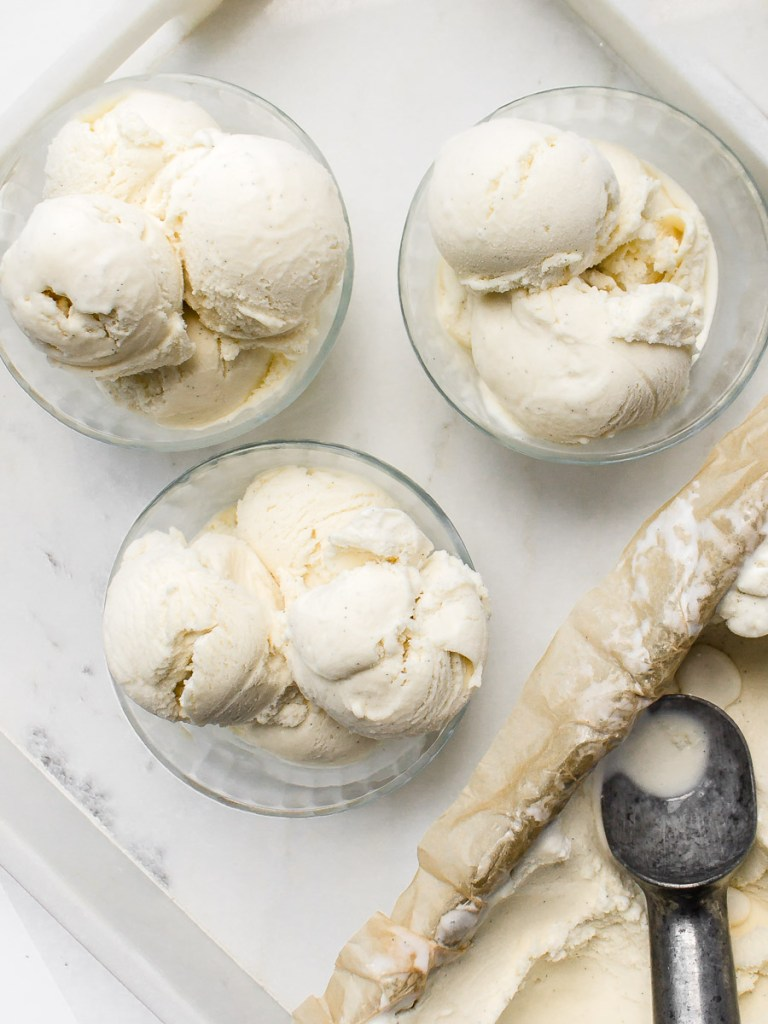 Homemade French Vanilla Bean Ice Cream