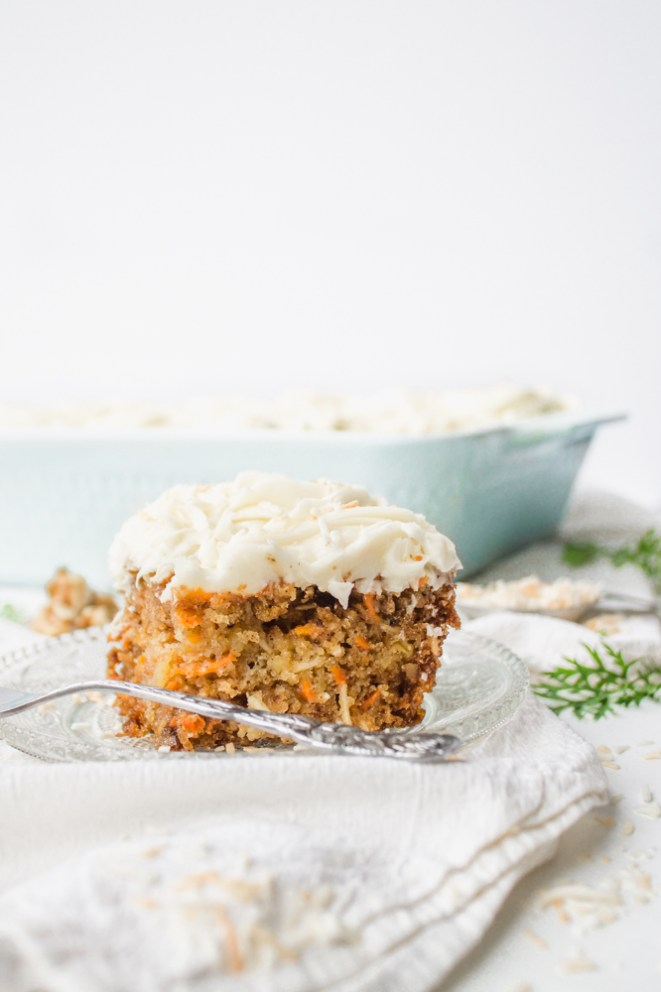 Carrot Cake With Cream Cheese Frosting Toasted Coconut